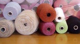 wool, viscose, yarns with lurex, cotton, wool blends