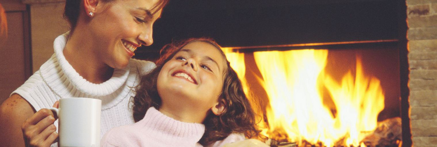 Mother and daughter enjoy heating and cooling services in Eagle Bay, NY