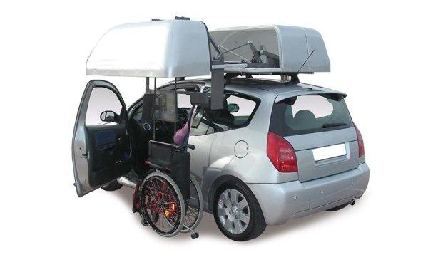wheelchair car roof
