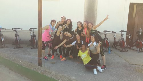 ballerine in posa per una foto