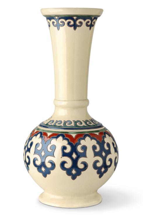 Vaso in ceramica con decorazioni