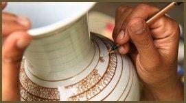 recupero estetico vaso ceramica