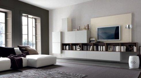 Soggiorno con libreria, soggiorno, sala