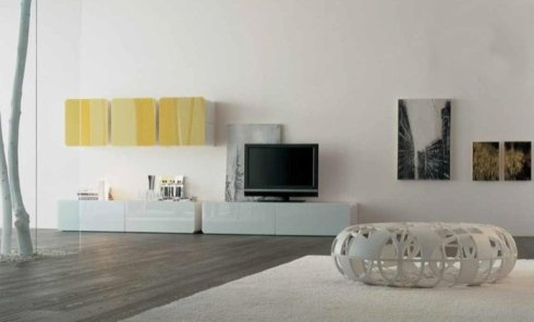 Sala TV, televisore, arredo salotto