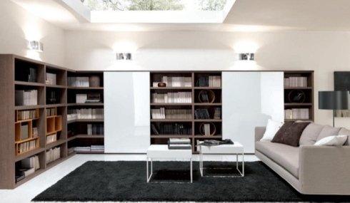 Libreria, libreria su misura, libreria in legno