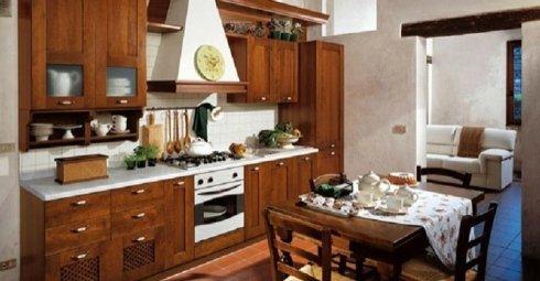 Cucina in legno massello, cucina, cucina in legno