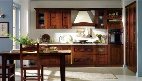 Cucina in legno, cucina, mobili per cucina