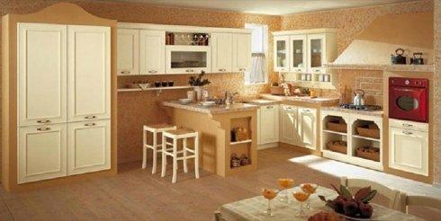 cucine componibili, cucine in legno, cucine con penisola