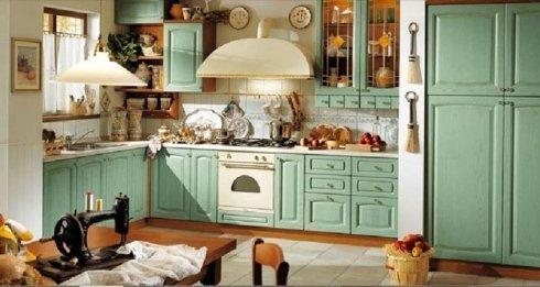 Cucina verde acqua, cucina, complementi d'arredo