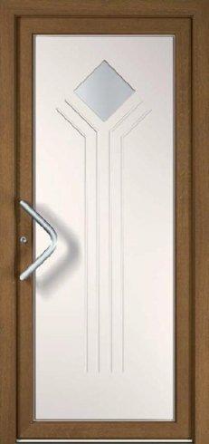 Porta con maniglia in metallo, porta, porta in legno