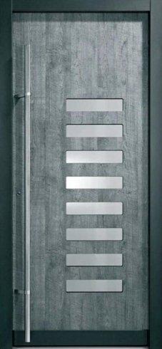 Porta con inserti in pvc, portoncino, porta da esterno