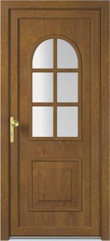 Porta in legno con vetrata, porta, portoncino