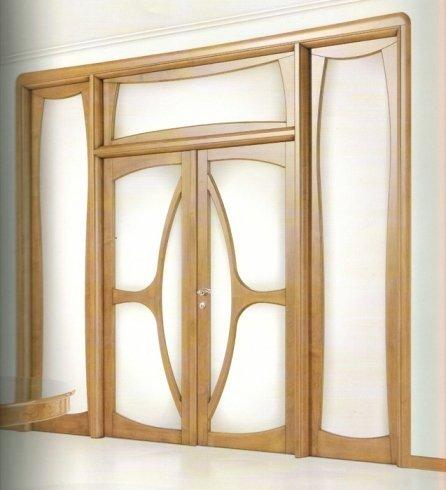 Porta con bordo in legno, porta in legno, porta di design, porta doppia, nocino americano