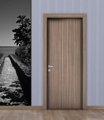 Porta in legno, porta per ambienti interni, porta in pvc, palissandro, laminato