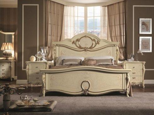 letto matrimoniale classico, letto, arredo camera da letto