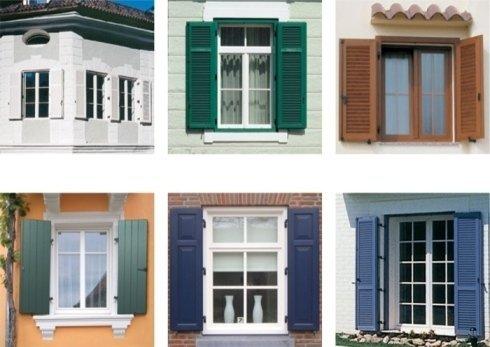 finestre in pvc, persiane colorate, finestre bianche classiche