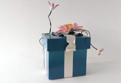 ninfea, fiore, scultura, design, disegnart, luce, nastro, fiocco