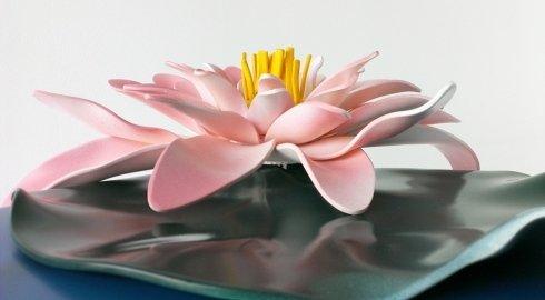 ninfea, fiore, fiocco, nastro, scultura, picciolo, design, disegnart, arte