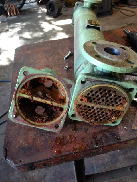 heat exchanger with end cap removed