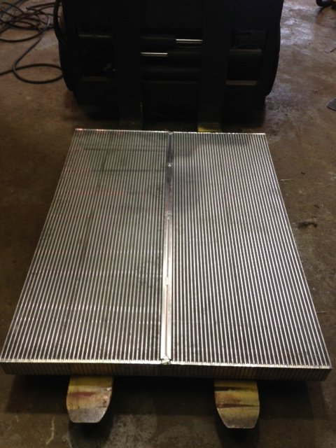 Bar and Plate aluminum core for Oil cooler