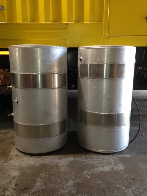 New aluminum welded onto the tanks