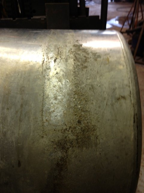 Fuel tank rotting under strap