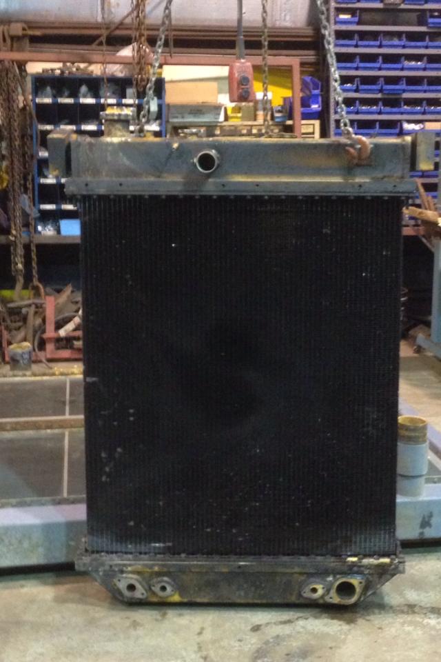 Before: Komatsu radiator