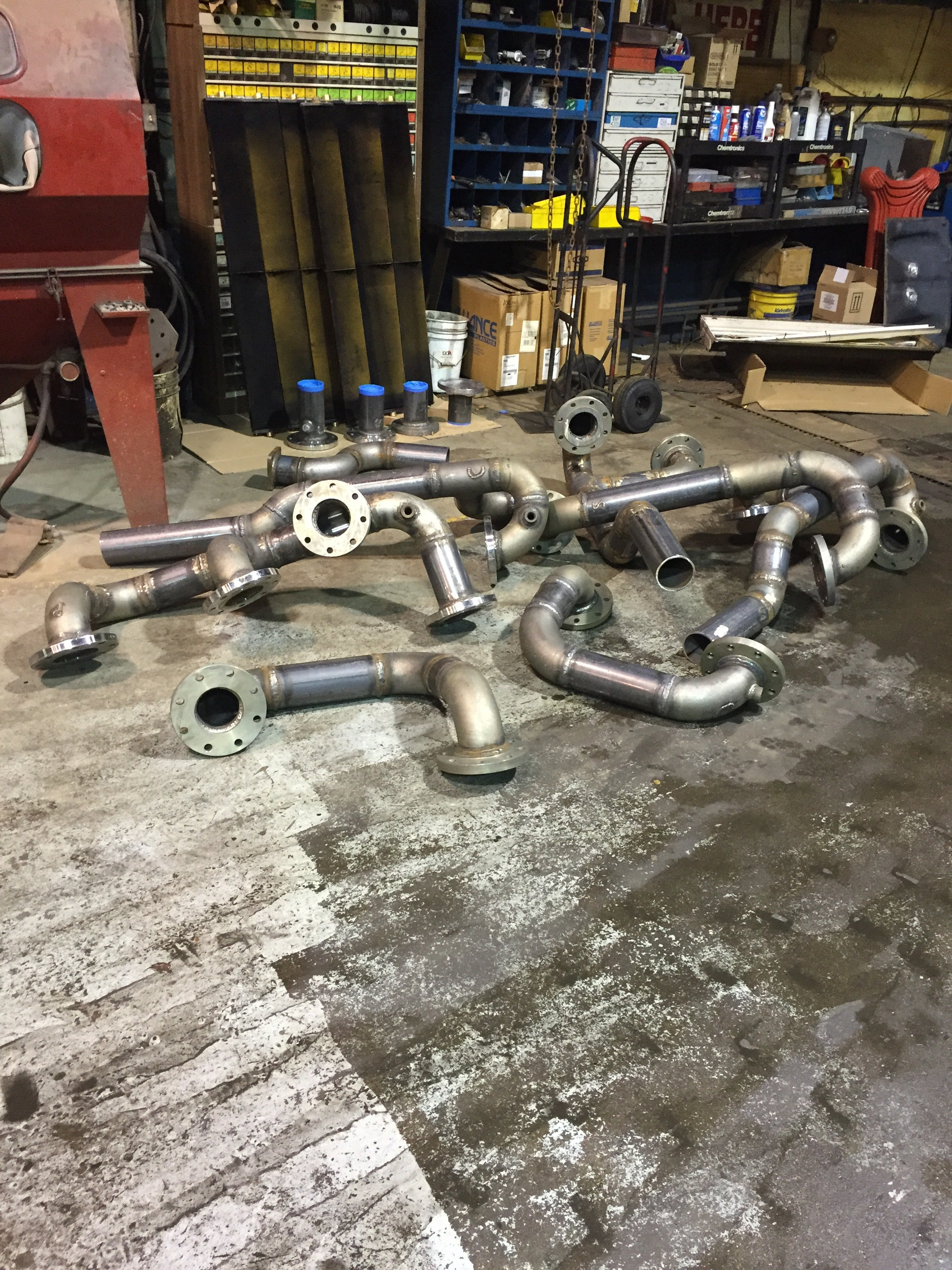 pipes cleaned and ready for delivery