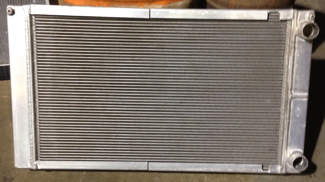 Custom aluminum radiator for a motor home