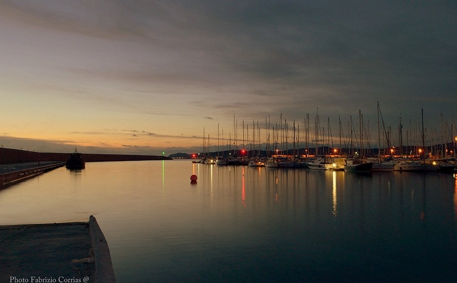 Sunrise on the port