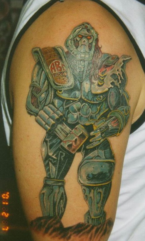 tattoo of a power ranger