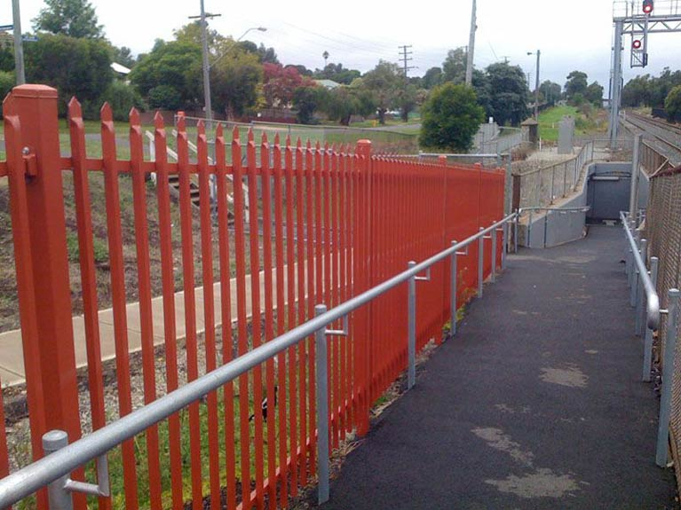 train station fence
