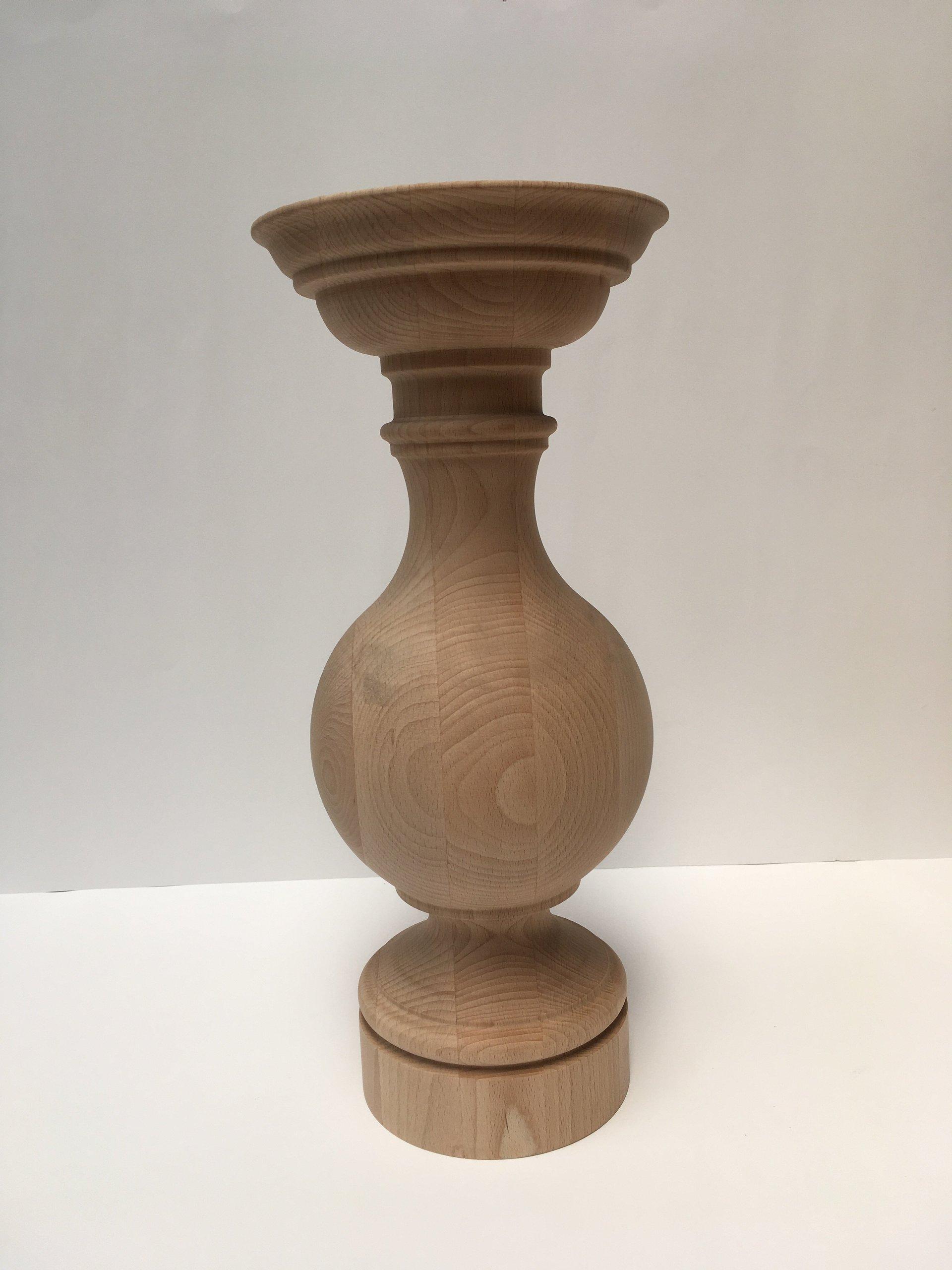 gamba centrale in legno