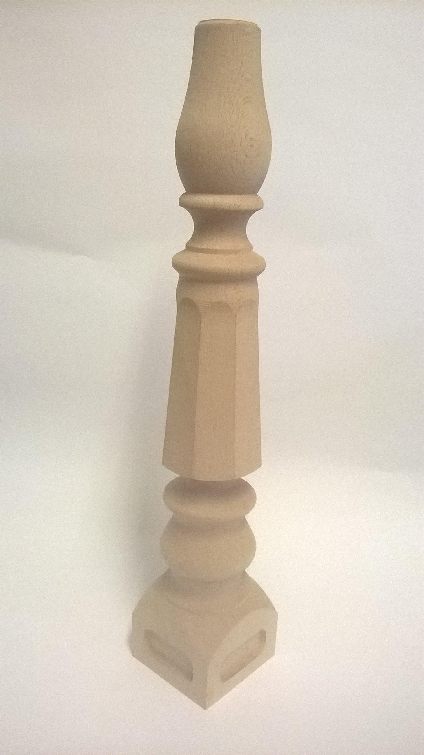 gamba tavolo in legno