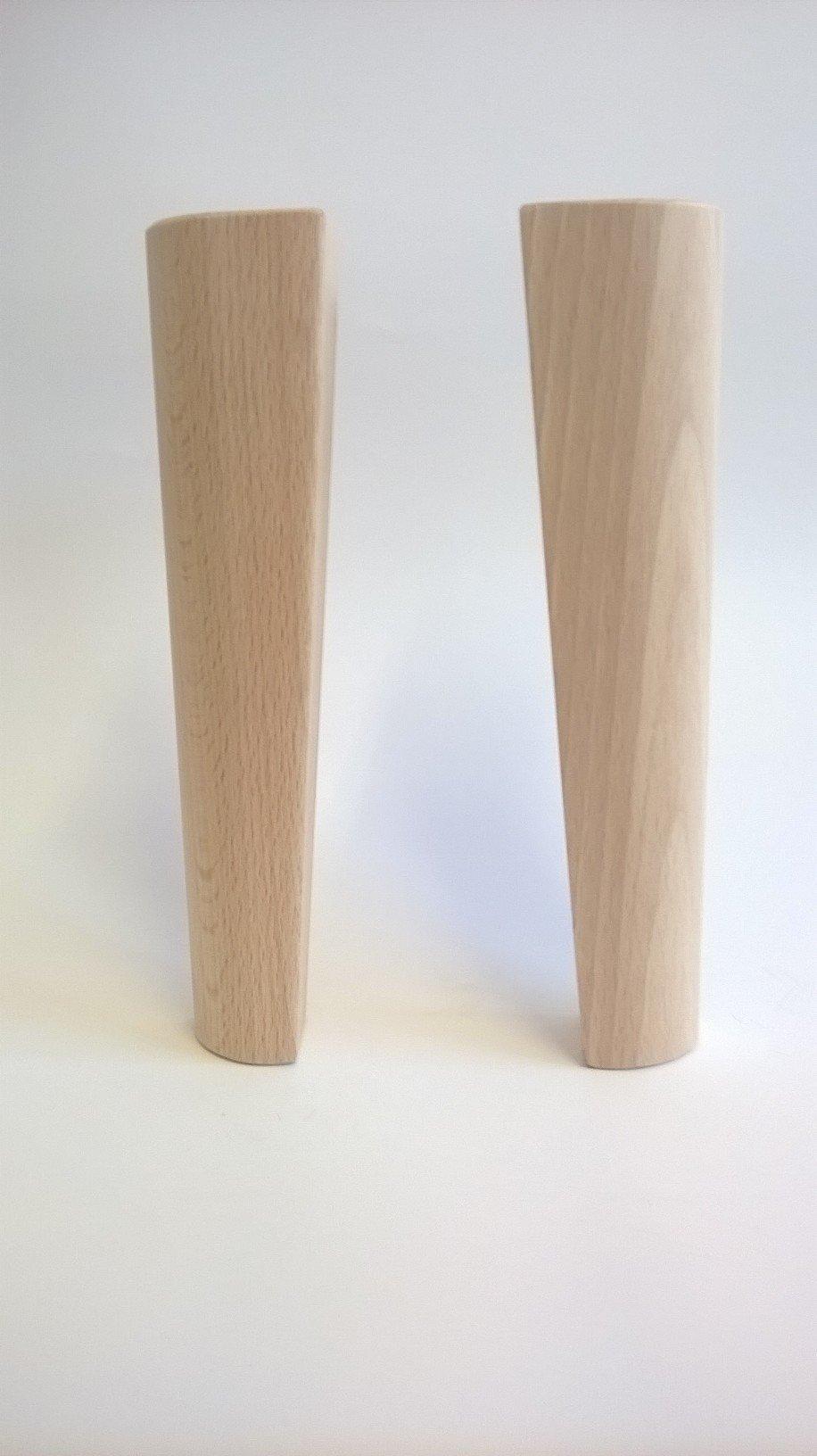 gambe per il letto in legno