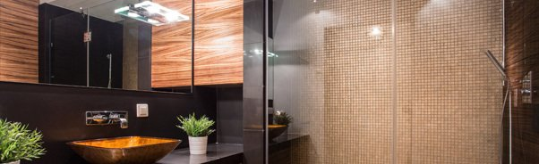 Glass in shower