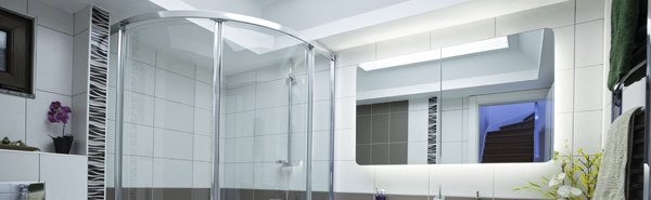 Rond shower glass
