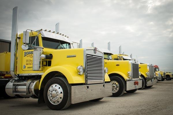 semi-truck towing