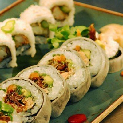 primo piano del sushi