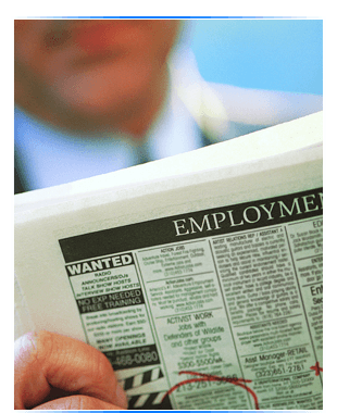 Jobs listed in Newspaper