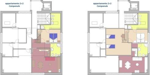 piantina appartamento campanula