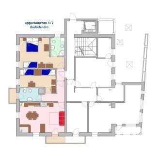 Piantina appartamento Rododendro