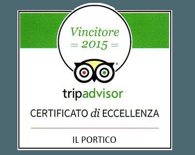 Certificato di eccellenza Trip Advisor
