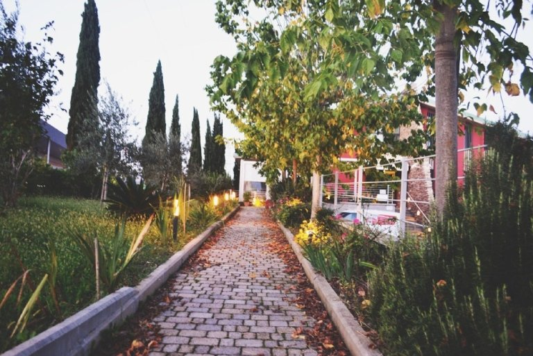 Viale di accesso al ristorante Il Portico