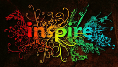 The word Inspire in different colours