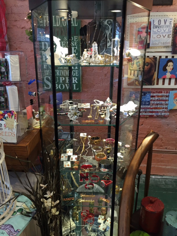 Unique gift items available at the store