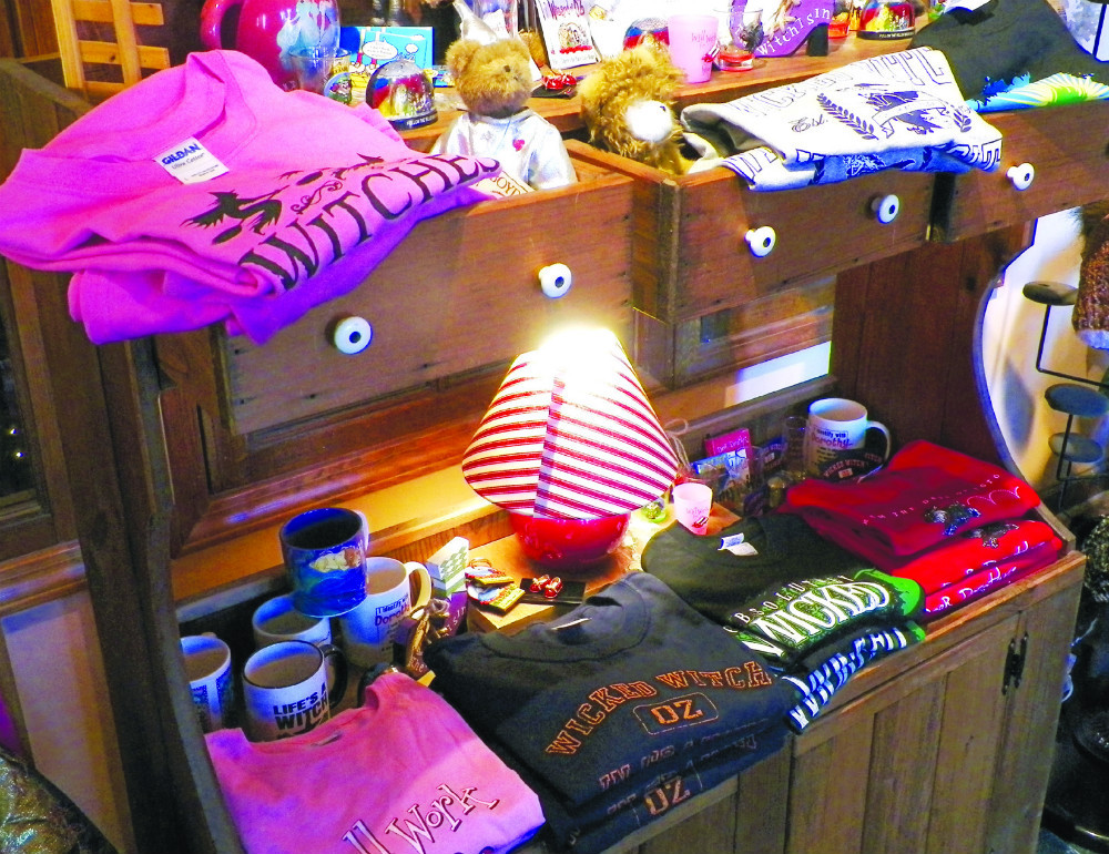 Display of gifts available at the shop