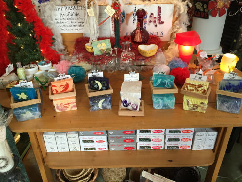 Variety of glycerin soap available at the shop in Lincoln