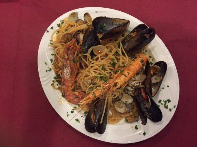 spaghetti allo scoglio a Venezia