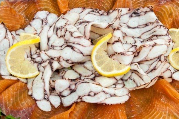 menù di pesce fresco